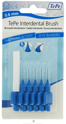 DROPPED: TePe Oral Health Care - Interdental Brush 0.6 mm Blue - 6 Piece(s)