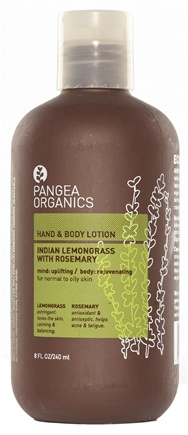 DROPPED: Pangea Organics - Hand & Body Lotion Rejuvenating & Refreshing Indian Lemongrass With Rosemary - 8.5 oz.
