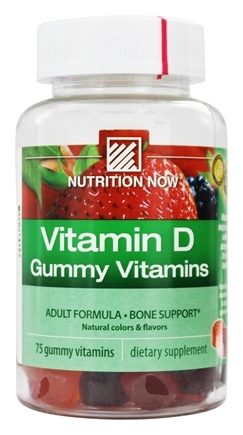 Nutrition Now - Vitamin D Adult Gummy Vitamins 2000 IU - 75 Gummies