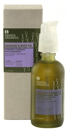 DROPPED: Pangea Organics - Massage & Body Oil Rejuvenating Pyrenees Lavender With Cardamom - 4 oz.