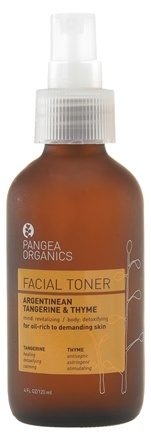 DROPPED: Pangea Organics - Facial Toner For Oil-Rich To Demanding Skin Argentinean Tangerine & Thyme - 4 oz.