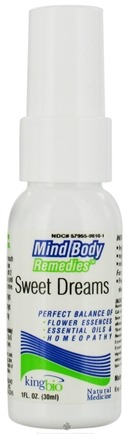 DROPPED: King Bio - Mind Body Remedies Sweet Dreams - 1 oz. CLEARANCE PRICED
