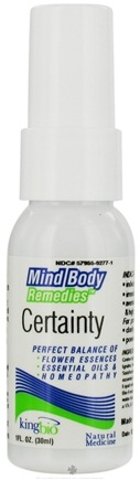 DROPPED: King Bio - Mind Body Remedies Certainty - 1 oz. CLEARANCE PRICED
