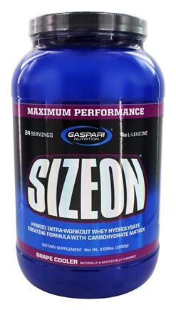 DROPPED: Gaspari Nutrition - SizeOn Maximum Performance Grape Cooler - 3.49 lbs. CLEARANCE PRICED