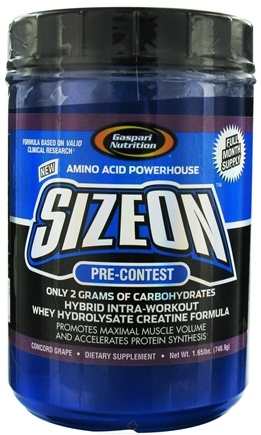 DROPPED: Gaspari Nutrition - SizeOn Pre-Contest Grape Cooler - 1.65 lbs. CLEARANCE PRICED