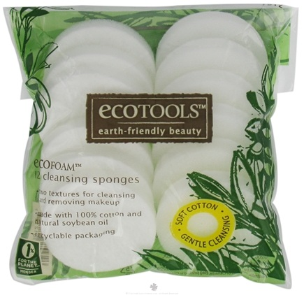 DROPPED: Eco Tools - EcoFoam Cleansing Sponges - 12 Pack