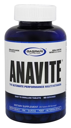 DROPPED: Gaspari Nutrition - Anavite - 180 Tablets