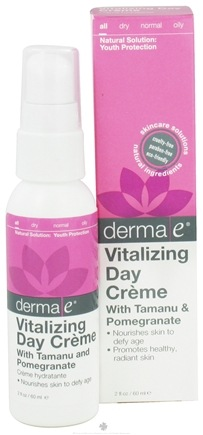 DROPPED: Derma-E - Vitalizing Day Creme With Tamanu & Pomegranate - 2 oz. (formerly Tropical Solutions Anti-Aging) CLEARANCE PRICED