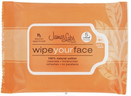 DROPPED: Jamar Labs - Wipe Your Face Travel Pack - 5 Count CLEARANCE PRICED