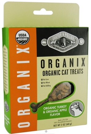 DROPPED: Castor & Pollux - Organix Cat Treats Organic Turkey & Apple Flavor - 2 oz.