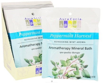DROPPED: Aura Cacia - Aromatherapy Mineral Bath Peppermint Harvest - 2.5 oz. CLEARANCE PRICED