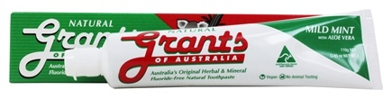 Grants of Australia - Natural Toothpaste Mild Mint with Aloe Vera - 3.85 oz.