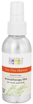 DROPPED: Aura Cacia - Aromatherapy Mist For Room and Body Purifying Tea Tree Harvest - 4 oz. CLEARANCE PRICED