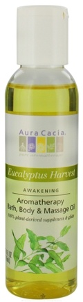 DROPPED: Aura Cacia - Aromatherapy Bath, Body & Massage Oil Awakening Eucalyptus Harvest - 4 oz. CLEARANCE PRICED
