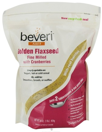 DROPPED: Beveri Nutrition - Golden Flaxseed Fine Milled with Cranberries - 16 oz. CLEARANCE PRICED