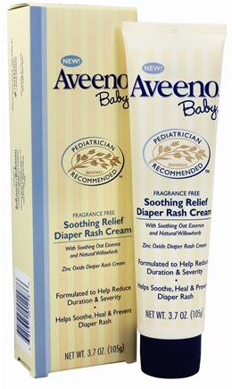 DROPPED: Aveeno - Baby Soothing Relief Diaper Rash Cream Fragrance Free - 3.7 oz. CLEARANCE PRICED