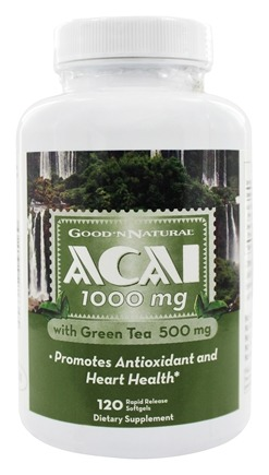 DROPPED: Good 'N Natural - Acai 1000 mg With Green Tea 500 mg - 120 Softgels