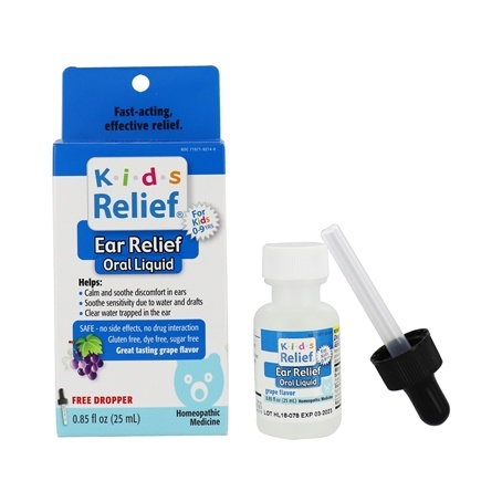 Homeolab USA - Kids 0-9 Earache Grape Flavor - 0.85 oz. CLEARANCE PRICED