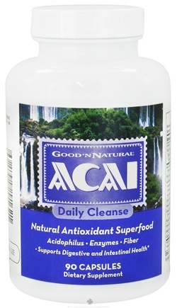DROPPED: Good 'N Natural - Acai Daily Cleanse Natural Antioxidant Superfood - 90 Capsules CLEARANCE PRICED