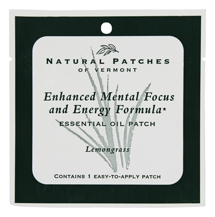 DROPPED: Natural Patches of Vermont - Enhanced Mental Focus and Energy Formula Essential Oil Patch Lemongrass - 1 Patch(es)