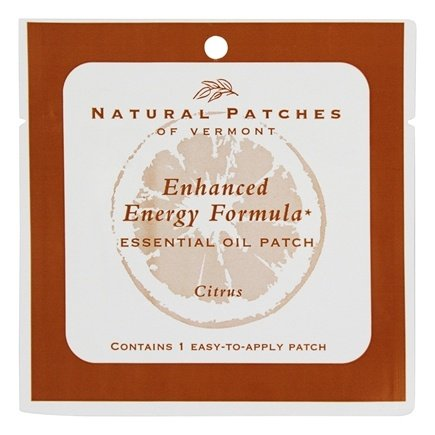 Natural Patches of Vermont - Enhanced Energy Formula Essential Oil Body Patch Citrus - 1 Patch(es)