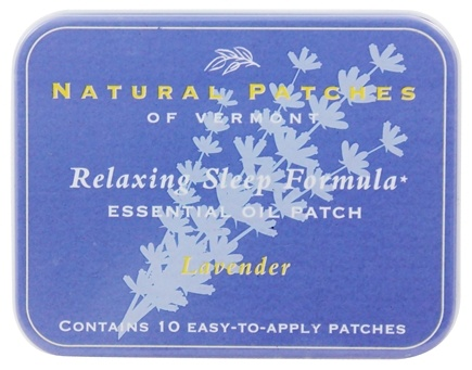 Natural Patches of Vermont - Relaxing Sleep Formula Essential Oil Body Patches Lavender - 10 Patch(es) Formerly Naturopatch