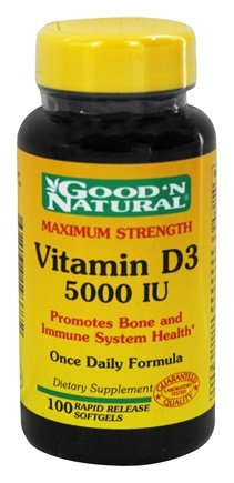 DROPPED: Good 'N Natural - Vitamin D3 Maximum Strength Once Daily Formula 5000 IU - 100 Softgels