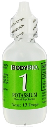 DROPPED: Body Bio - Liquid Minerals Potassium 1 - 2 oz. CLEARANCE PRICED