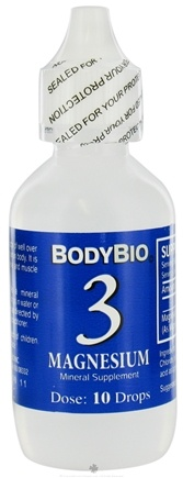 DROPPED: Body Bio - Liquid Minerals Magnesium 3 - 2 oz. CLEARANCE PRICED