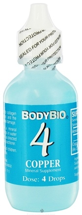 DROPPED: Body Bio - Liquid Minerals Copper 4 - 2 oz. CLEARANCE PRICED