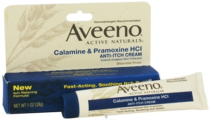DROPPED: Aveeno - Active Naturals Anti-Itch Cream Calamine & Pramoxine HCL - 1 oz.