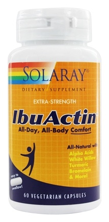 Solaray - IbuActin Extra-Strength - 60 Vegetarian Capsules
