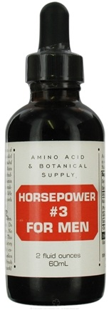 DROPPED: Amino Acid & Botanical - Horsepower #3 For Men - 2 oz.