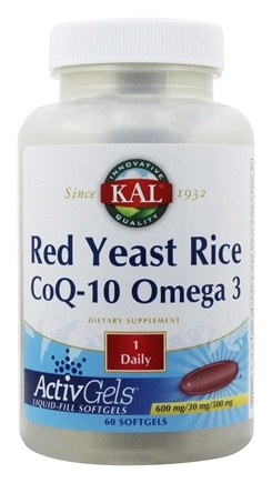 Kal - Red Yeast Rice CoQ-10 Omega 3 600/30/500 mg - 60 Softgels