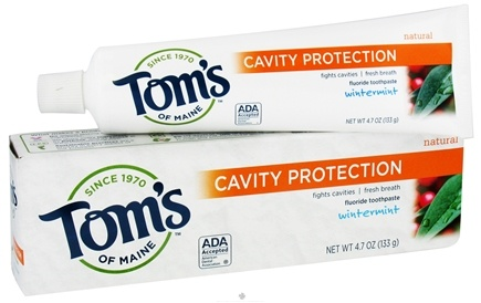 DROPPED: Tom's of Maine - Natural Toothpaste Cavity Protection With Fluoride Wintermint - 4.7 oz. CLEARANCE PRICED
