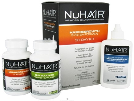 DROPPED: Nu Hair - Hair Regrowth System For Men 30 Day Kit - Formerly by Biotech Labs