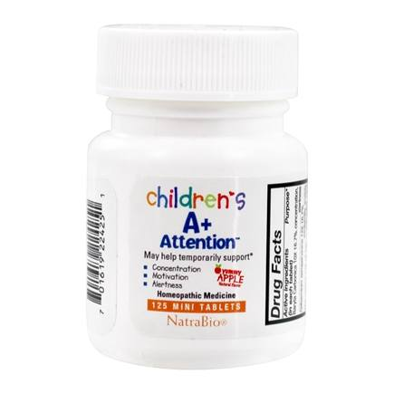 Herbs for Kids - A+ Attention Focus & Learning Yummy Apple - 125 Chewable Tablets
