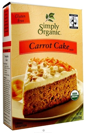 DROPPED: Simply Organic - Cake Mix Gluten Free Carrot - 11.6 oz.
