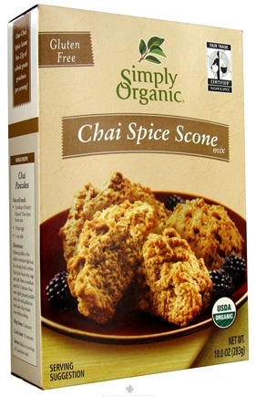 DROPPED: Simply Organic - Gluten Free Chai Spice Scone Mix - 10 oz. CLEARANCE PRICED