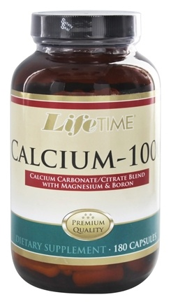 LifeTime Vitamins - Calcium Citrate 1000 with Magnesium - 180 Capsules