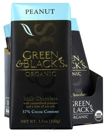 DROPPED: Green & Black's Organic - Milk Chocolate Bar With Carmelized Peanuts & Sea Salt 37% Cocoa - 3.5 oz.
