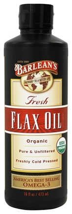 Barlean's - Fresh Flax Oil 100% Organic Pure & Unfiltered Cold Pressed - 16 oz.