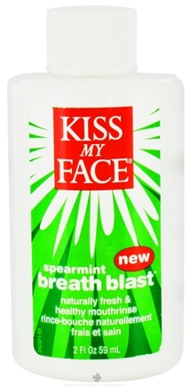 DROPPED: Kiss My Face - Breath Blast Mouthrinse Spearmint - 2 oz.