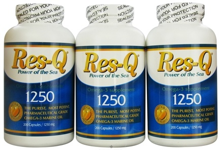 DROPPED: Res-Q - 1250 Omega-3 Marine Oil Combo Pack - 600 Capsules