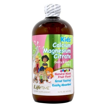 LifeTime Vitamins - Kids' Liquid Calcium Magnesium Natural Bubble Gum Flavor - 16 oz.