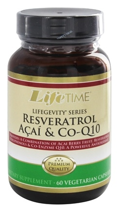LifeTime Vitamins - Resveratrol Acai & Co-Q10 - 60 Vegetarian Capsules