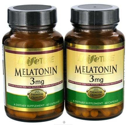 DROPPED: LifeTime Vitamins - Melatonin (60+60) Twin Pack 3 mg. - 120 Capsules CLEARANCE PRICED