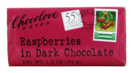 Chocolove - Dark Chocolate Mini Bar Raspberries - 1.2 oz.