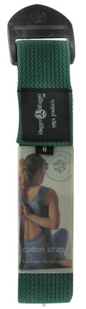 DROPPED: Hugger Mugger Yoga Products - Cotton Cinch Strap Green - 6 ft. CLEARANCE PRICED