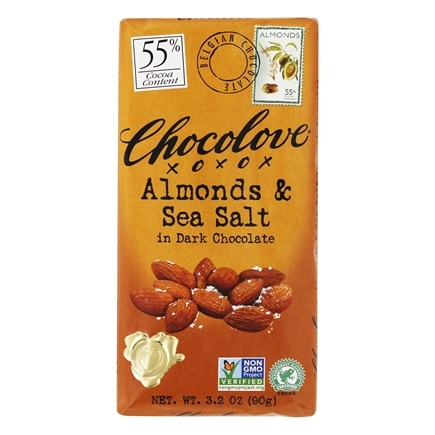 Chocolove - Dark Chocolate Bar Almonds & Sea Salt - 3.2 oz.